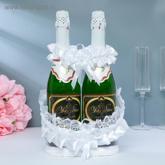 Корзинка для шампанского ладья белая
