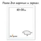 Рама для зеркал и картин 40х50х2,6 см, Berta белая