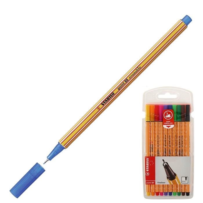 Набор ручек капиллярных 10 цветов Stabilo point 88 0.4 мм 8810
