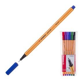 Набор ручек капиллярных 6 цветов STABILO Point 88, 0,4 мм, блистер