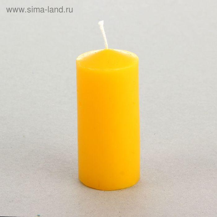 Свеча классическая 4х8,5 см, желтая