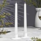 Набор свечей античных, подвес, 2 штуки, белый