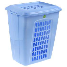 Корзина для белья прямоугольная с крышкой 45 л 'Молетта', цвет синий Ош