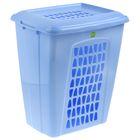 """Корзина для белья прямоугольная с крышкой 60 л """"Молетта"""", цвет синий"""