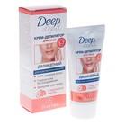 Деликатный крем-депилятор Floresan Deep Depil для удаления волос на лице с маслом персика, 50 мл