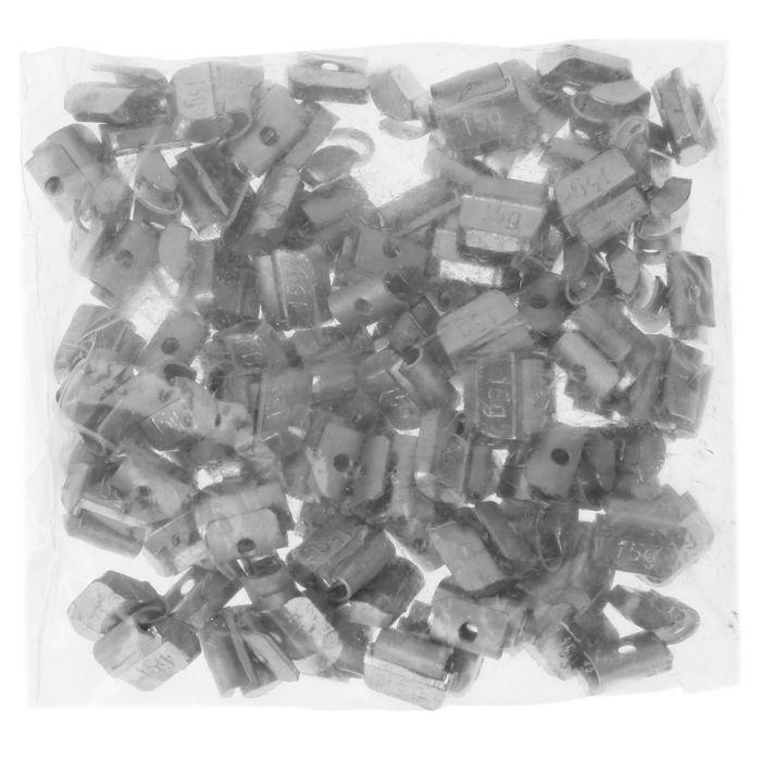Грузики набивные свинцовые, для штамп. дисков, 15 гр., набор 100 шт.