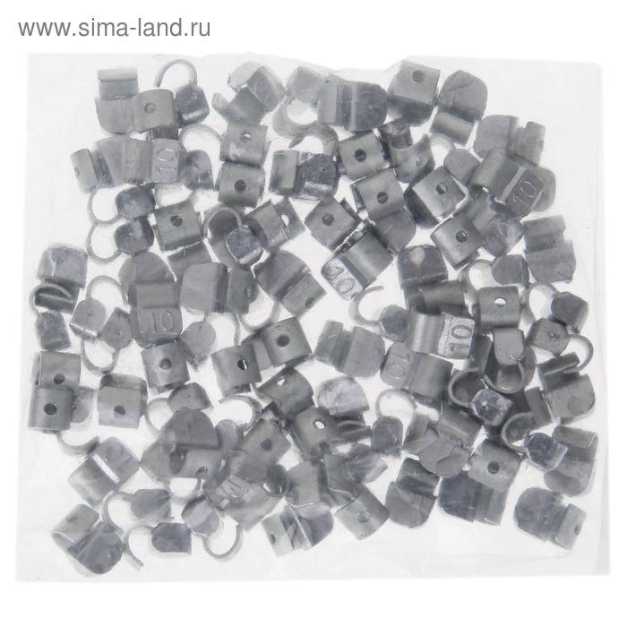 Грузики набивные свинцовые, для литых дисков, 10 гр., набор 100 шт.