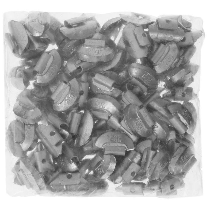 Грузики набивные свинцовые, для штамп. дисков, 20 гр., набор 100 шт.