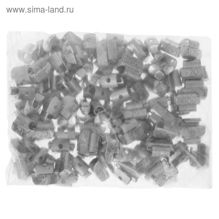 Грузики набивные свинцовые, для литых дисков, 20 гр., набор 100 шт.