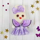 "Toy ""Bunny with flower"", large eyes, MIX color"