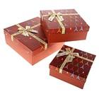 """Набор коробок 3в1 """"Париж"""", цвет шоколадный"""