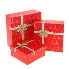 """Набор коробок 3в1 """"Эйфелева башня"""", цвет красный"""
