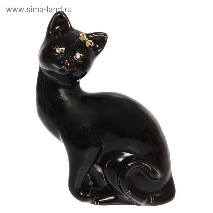 """Копилка """"Кошка Шарлота"""" глазурь, чёрная"""
