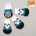 Носки нескользящие, размер S (2,5/3,5 х 6 см), набор 4 шт, микс расцветок для мальчика