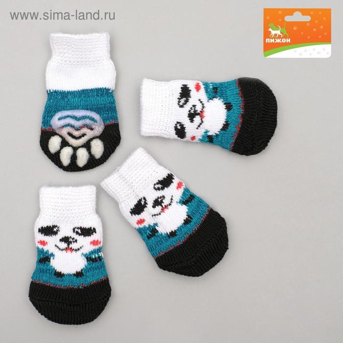 Носки нескользящие, размер S (2,5/3,5 х 6 см), набор 4 шт, микс расцветок для мальчика; ;