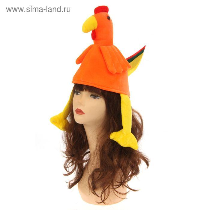 """Шляпа карнавальная """"Петушок"""" цветной хвост"""