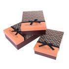 """Набор коробок 3в1 """"Гламур"""", цвет шоколадный"""