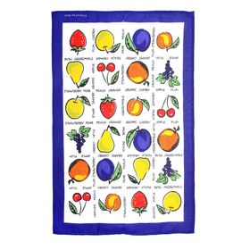 Полотенце кухонное 'Collorista' Фрукты-ягоды 47*70±2 см, 100% хлопок, рогожка, 162 г/м2 Ош