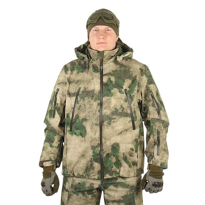 Куртка для спецназа демисезонная МПА-26 ткань софтшелл, КМФ мох (46/5)