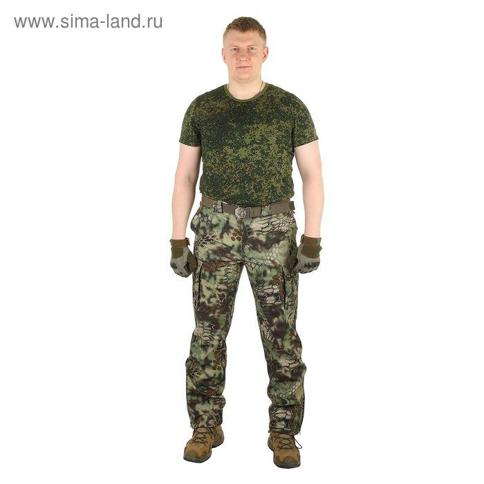 Брюки для спецназа МПА-28 ткань софтшелл, КМФ питон лес (50/5)