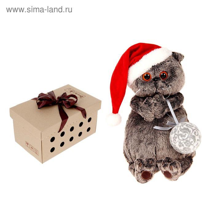 """Мягкая игрушка """"Басик и новогодний колпачок"""""""