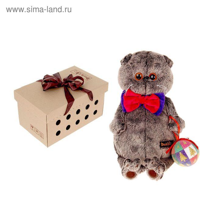 Мягкая игрушка «Басик с новогодним шариком»
