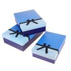 "Набор коробок 3в1 ""Гламур"", цвет синий"