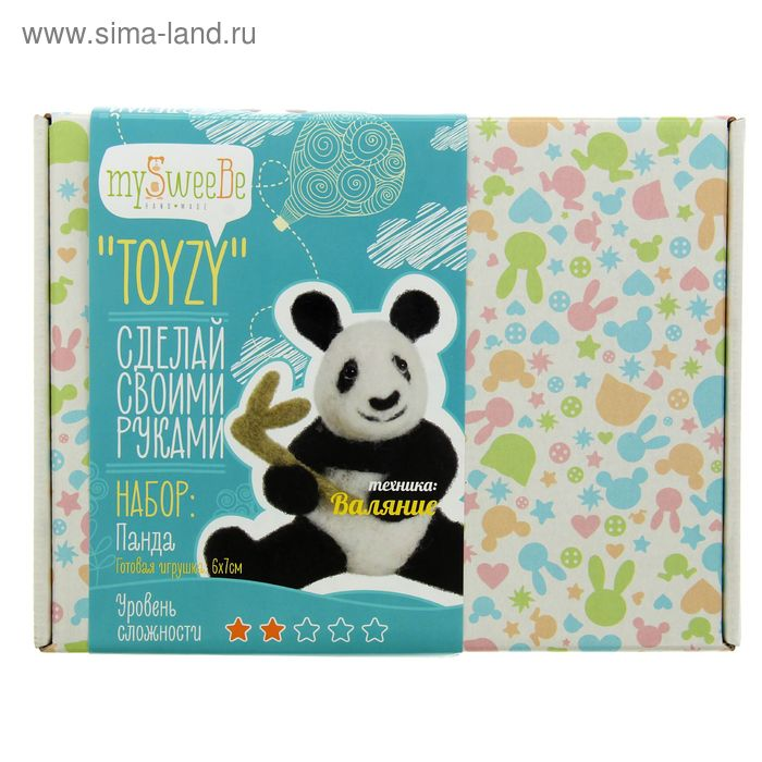 "Набор для создания игрушки ""Панда"" техника валяние"