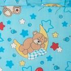 "Бортик с рюшей ""Медвежата"", 4 части (2 части: 30х60 см, 2 части: 30х120 см), цвет голубой (арт. 552) - фото 105556305"