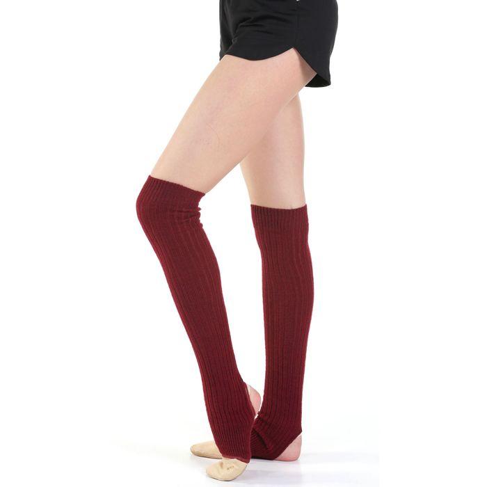 Гетры для танцев, с отверстием под пятку, 30 см, цвет вишнёвый
