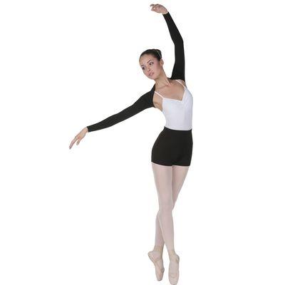 Шорты для гимнастики, размер 36, цвет чёрный