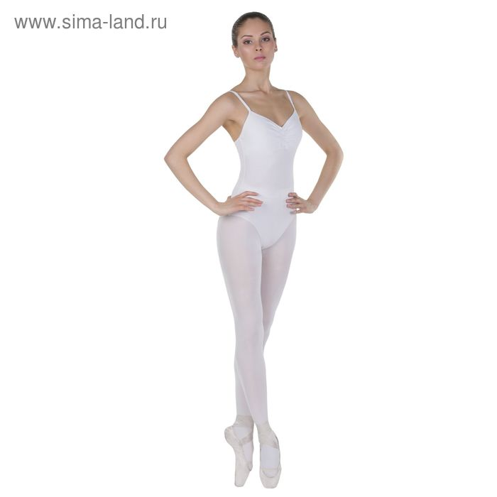 Трико для хореографии, размер 38, цвет белый