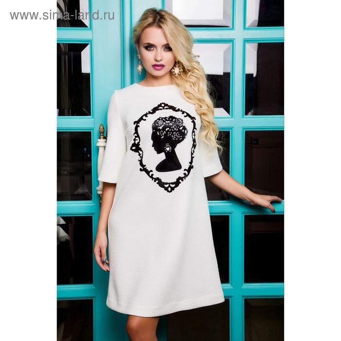 Платье женское 71178, размер 44 (M), цвет молоко