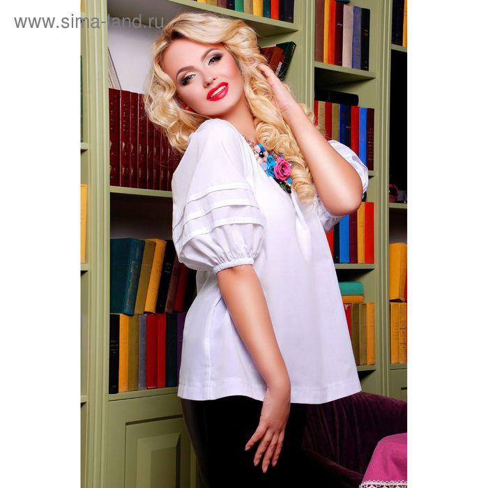 Блузка женская, размер 42-44 (S-M), цвет белый, 72037