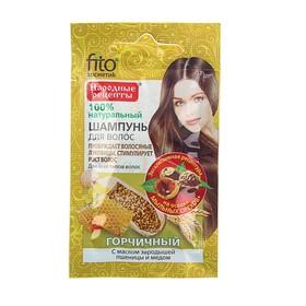 Шампунь «Народные рецепты» для всех типов волос «Горчичный» с маслом зародышей пшеницы и мед Ош