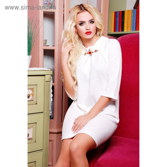 Платье женское 71171, размер 46 (L), цвет молоко