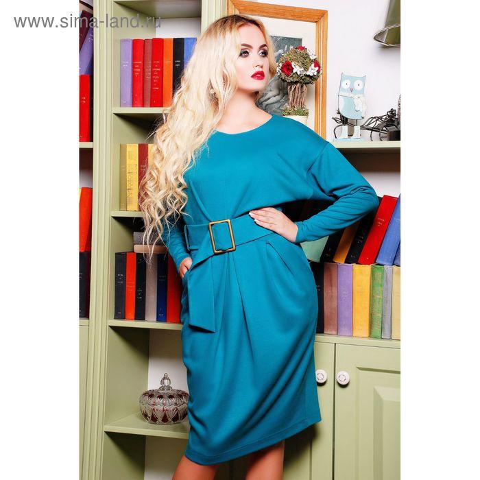 Платье женское 71174B, размер 48 (XL), цвет бирюза