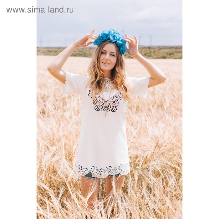 Платье женское, размер 50 (XXL), цвет молоко (арт. 71172B С+)
