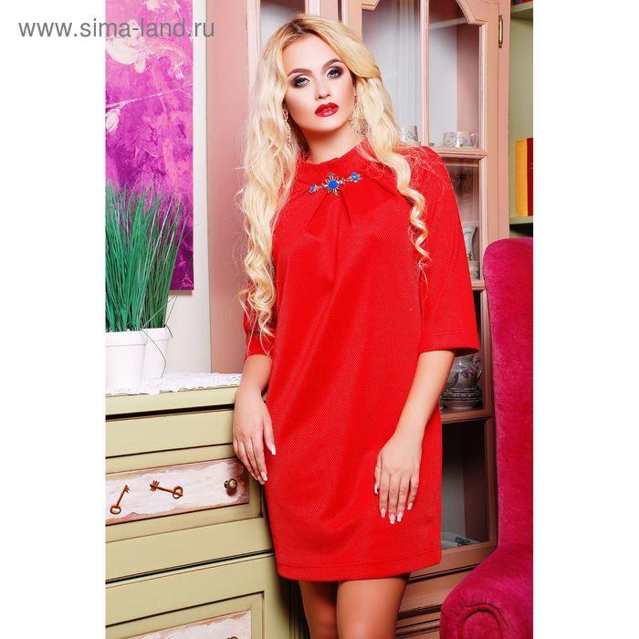 Платье женское 71171, размер 42 (S), цвет красный