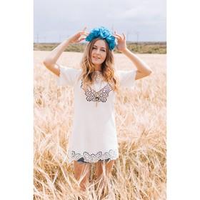 Платье женское 71172B  цвет молоко, размер 48 (XL)