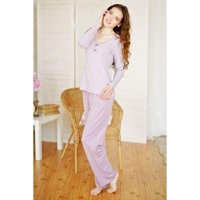 Комплект женский (джемпер+брюки) E2053 вискоза цвет сиреневый, р-р 52