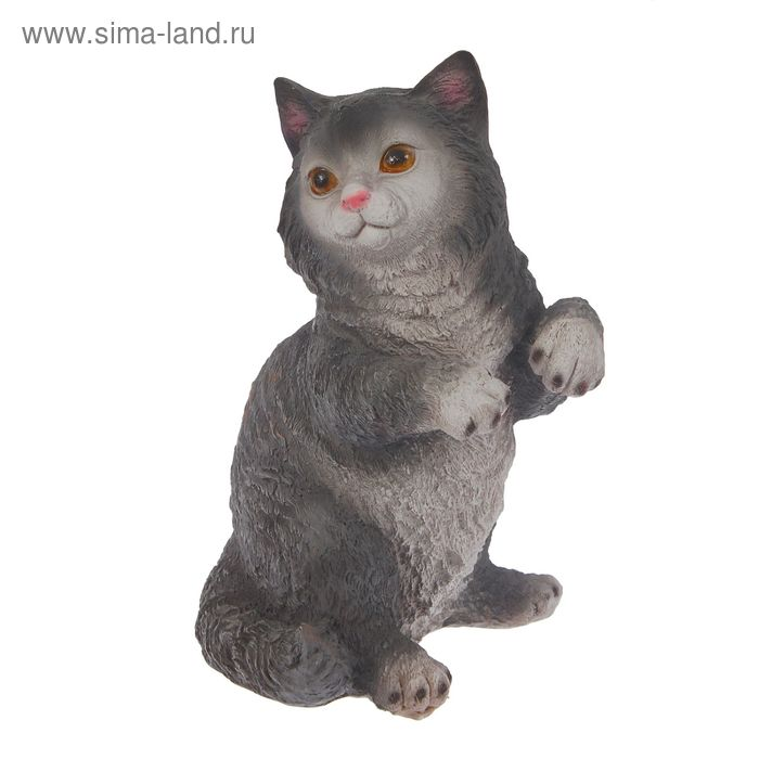 """Садовая фигура """"Игривый кот"""" микс"""