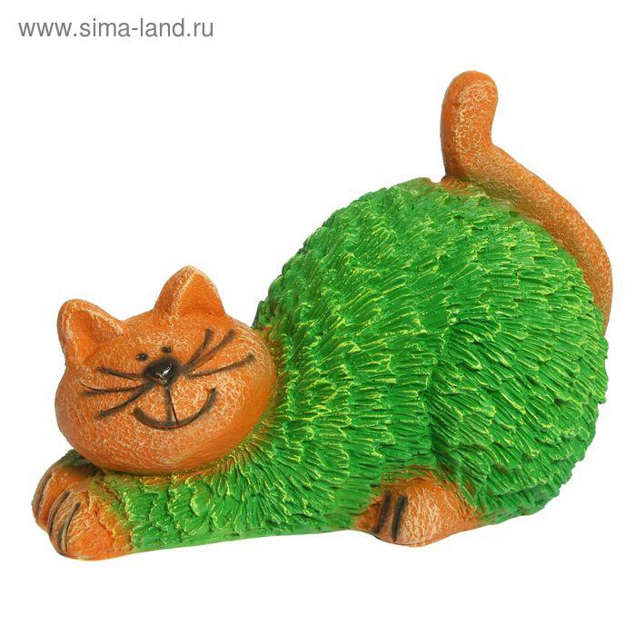 """Садовая фигура """"Кошка"""" зелёная"""