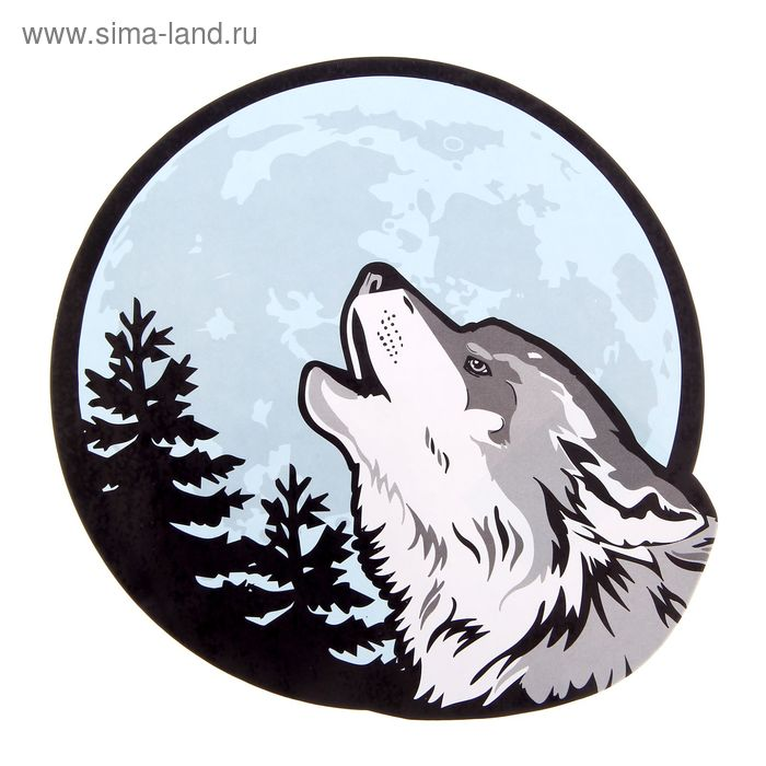 "Наклейка на авто ""Волк"""