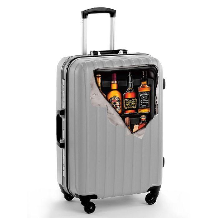 """Наклейка на чемодан """"Напитки"""""""