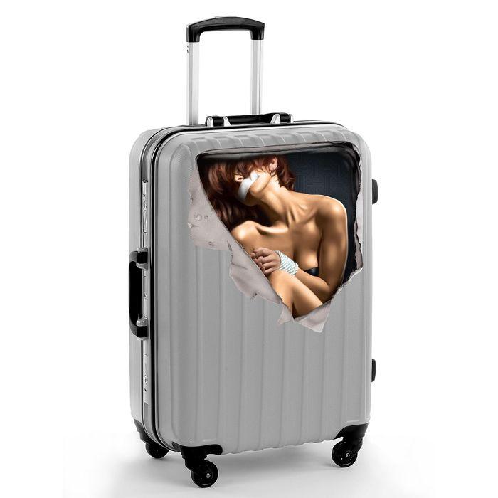 """Наклейка на чемодан """"Девушка"""""""