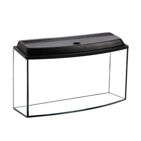 Аквариум телевизор с крышкой, 100 литров, 80 х 32,5 х 39,5/45,5 см, чёрный