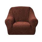"""Чехол """"Челтон"""" на кресло, ширина спинки 110 см, высота до 95 см, цвет шоколад"""