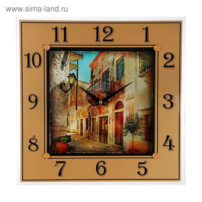 """Часы настенные квадратные """"Итальянский квартал"""", 31х31 см"""