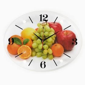 "Часы настенные, серия: Кухня, ""Фруктовая фантазия"", 35х46  см, микс"